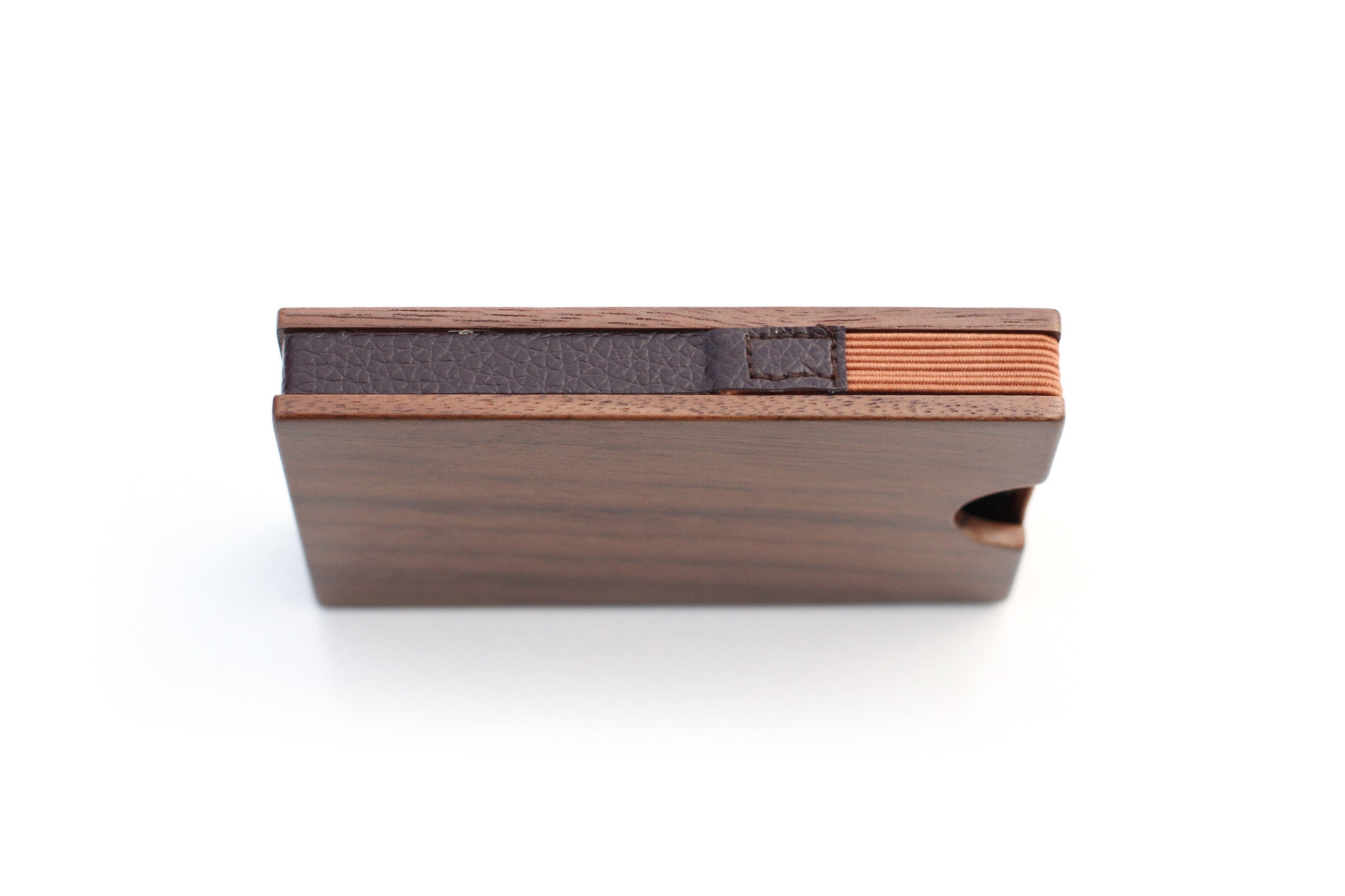 Walnut card wallet wood wallet by slim timber wood business card holder slim wood wallet colourmoves Images