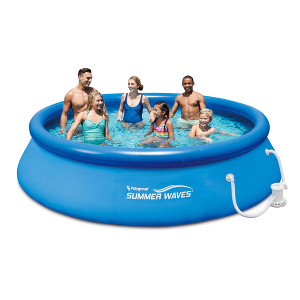 Summer Waves Above Ground Swimming Pool With Filter Pump System 12
