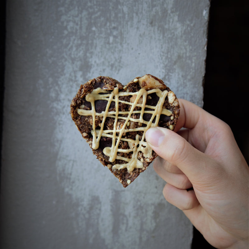 Double Chocolate Caramel Heart Cookies