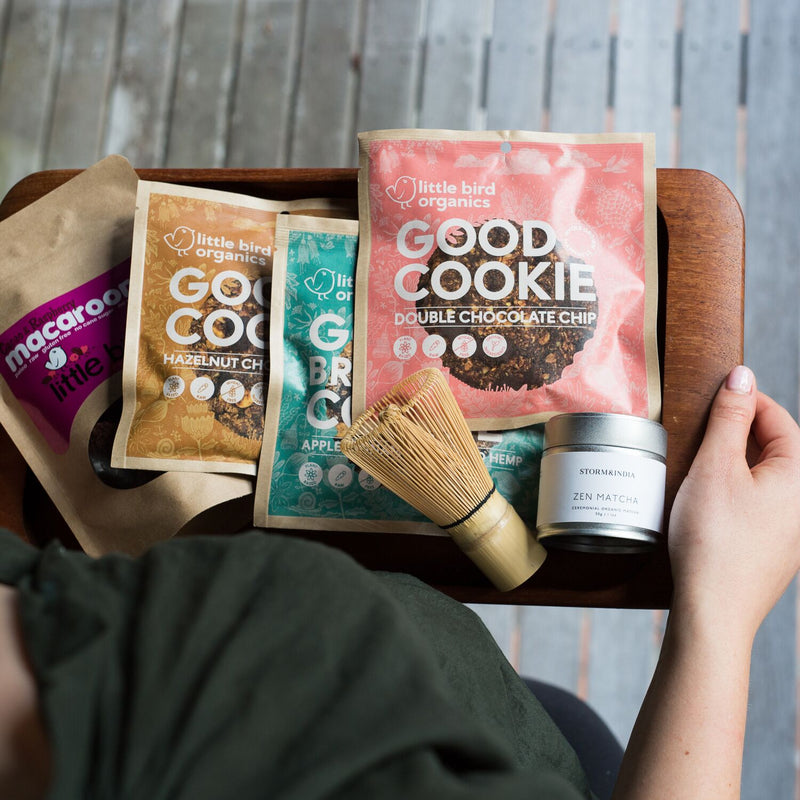 Organic Matcha + Cookies and Macaroons Bundle