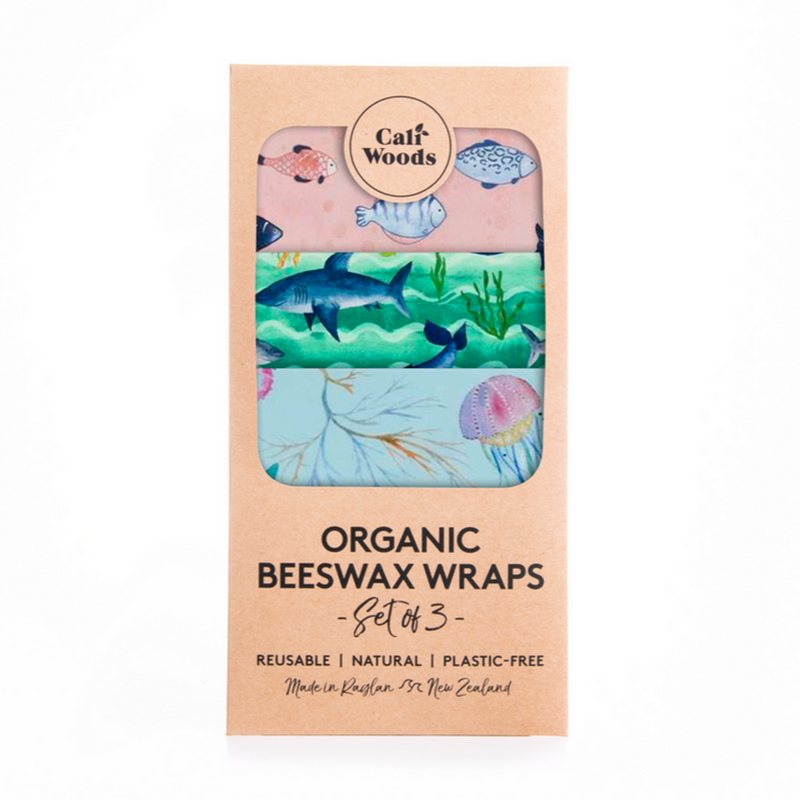 Beeswax Wraps 3 Pack - Ocean Love