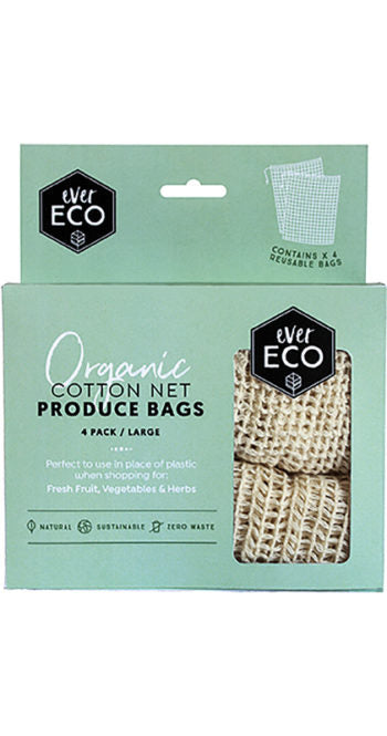 Ever Eco Organic Cotton Net Produce Bags 4 Pack