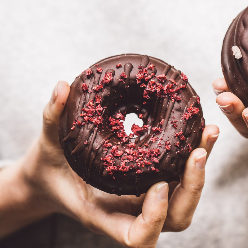 Chocolate Raspberry Donuts