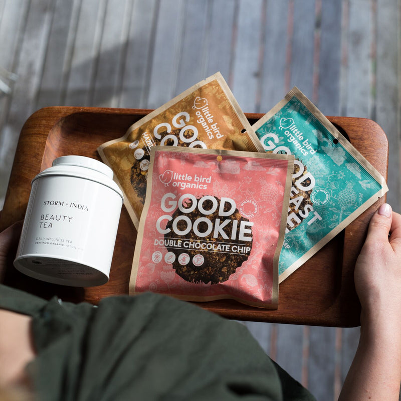 Organic Tea Tin + Cookies Bundle