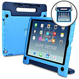Pure Sense Buddy Antimicrobial Rugged Kids iPad & Galaxy Tab case w/ shoulder strap + cleaning kit