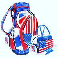 Custom Staff Golf Bag with Matching Custom Sports Bag Combo