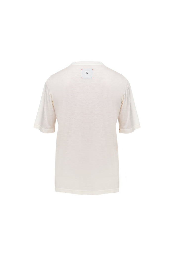 Viscose T-shirt with embroidery