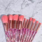 LUXURY PINK CRYSTAL BRUSH SET (10 PCS)