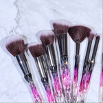 LUXURY RUBY CRYSTAL BRUSH SET (15 PCS)