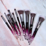 PLUM CRYSTAL BRUSH SET (10 PCS)