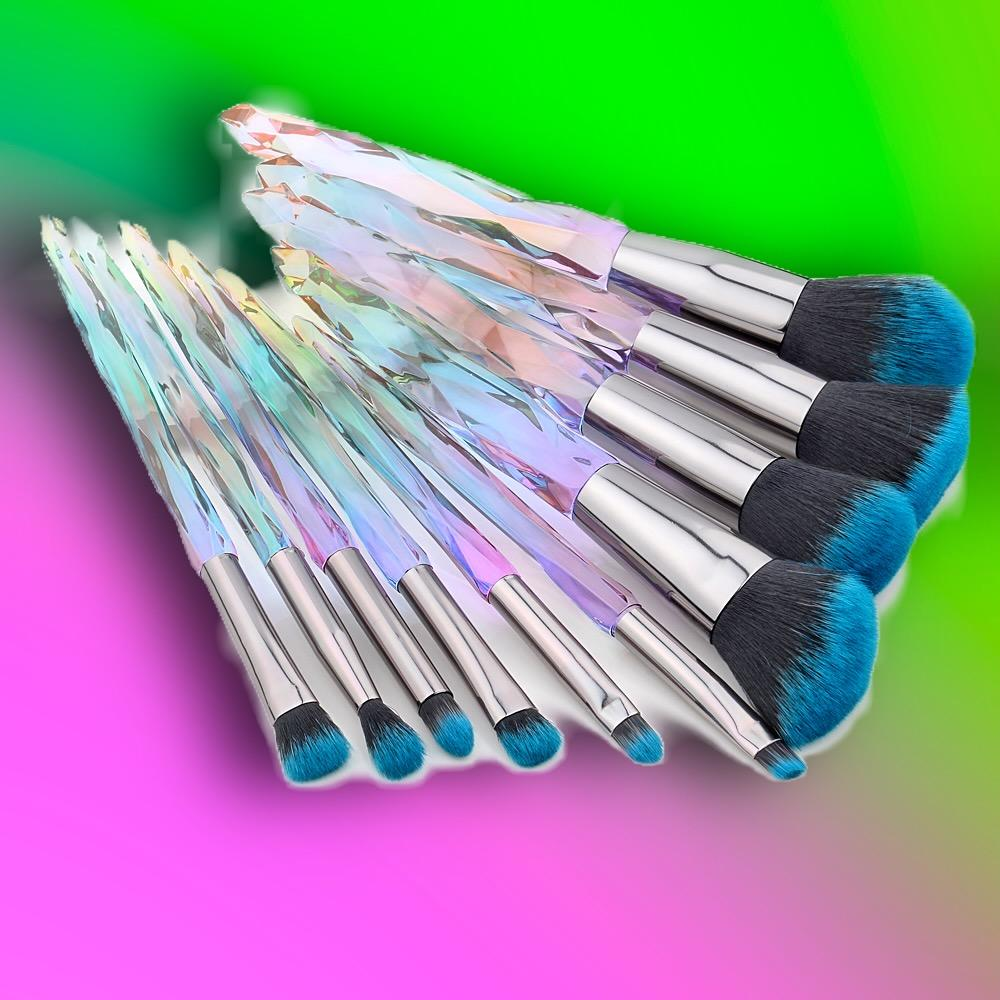 Load image into Gallery viewer, LUXURY PASTEL CRYSTAL BRUSH SET (10 PCS)