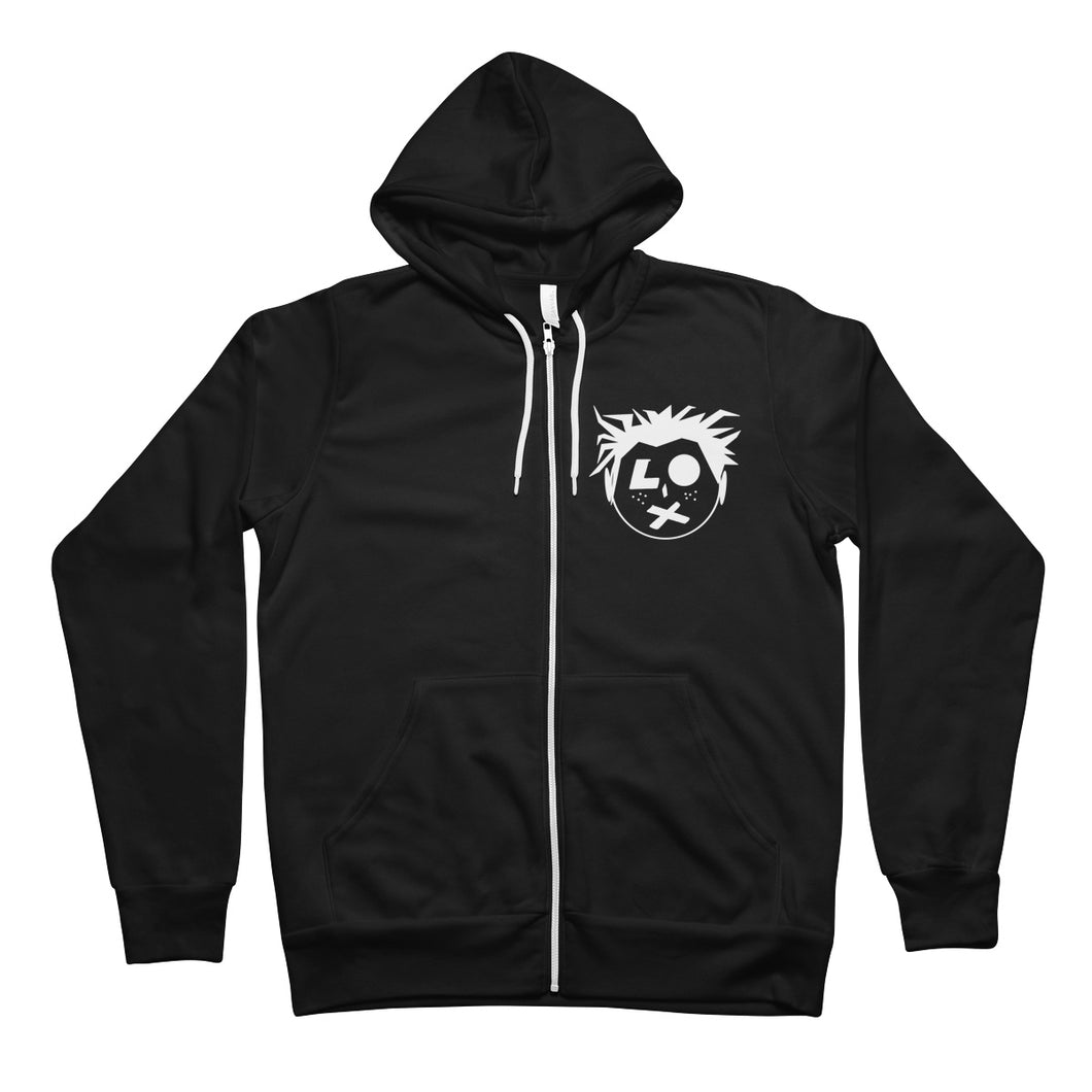SP Head Logo Unisex Full Zip Hoodie