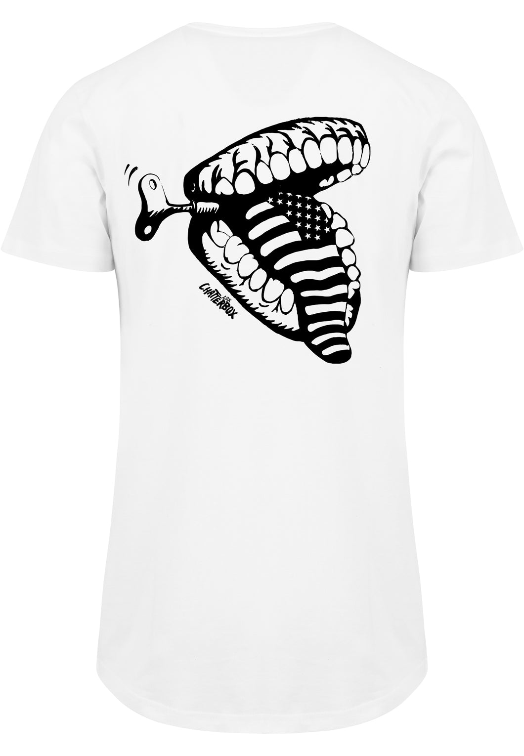 American Tongue long tee white