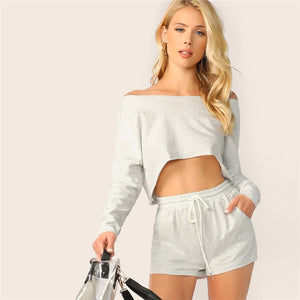 2019 Boat Neck Women Two Piece