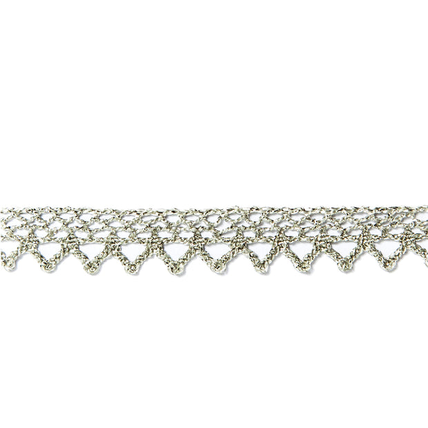 Garniture - Antique Silver Lace Trim