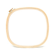 "Square Wooden Embroidery Hoops - 5/16"" Thick"