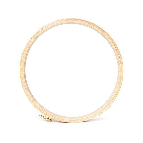 "Round Wooden Embroidery Hoop - 5/16"" Thick"