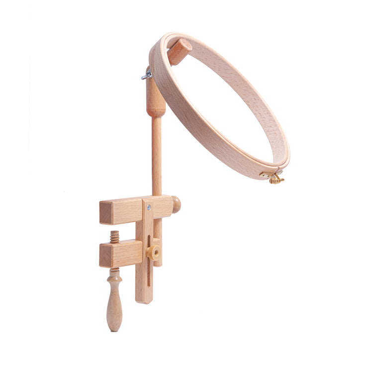Table Clamp with Wooden Embroidery Hoop - 7/8 x 8.5""