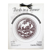 Birds in a Bower Cross Stitch Silk Embroidery Kit - Brown