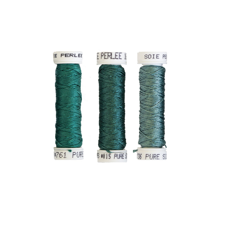 Au Ver à Soie ® Soie Perlee Silk Thread Kit - Meadow Grass