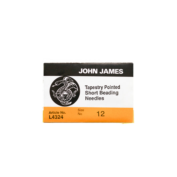 John James Tapestry Pointed Short Beading Needles
