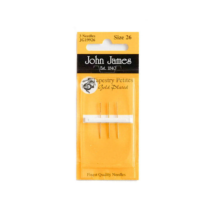 John James Gold Plated Petite Tapestry Needles