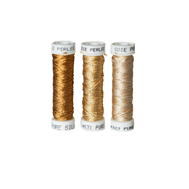 Au Ver à Soie ® Soie Perlee Silk Thread Kit - Acorn Gold