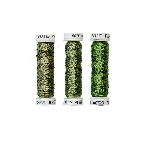 Au Ver à Soie ® Soie Perlee Silk Thread Kit - Aloe