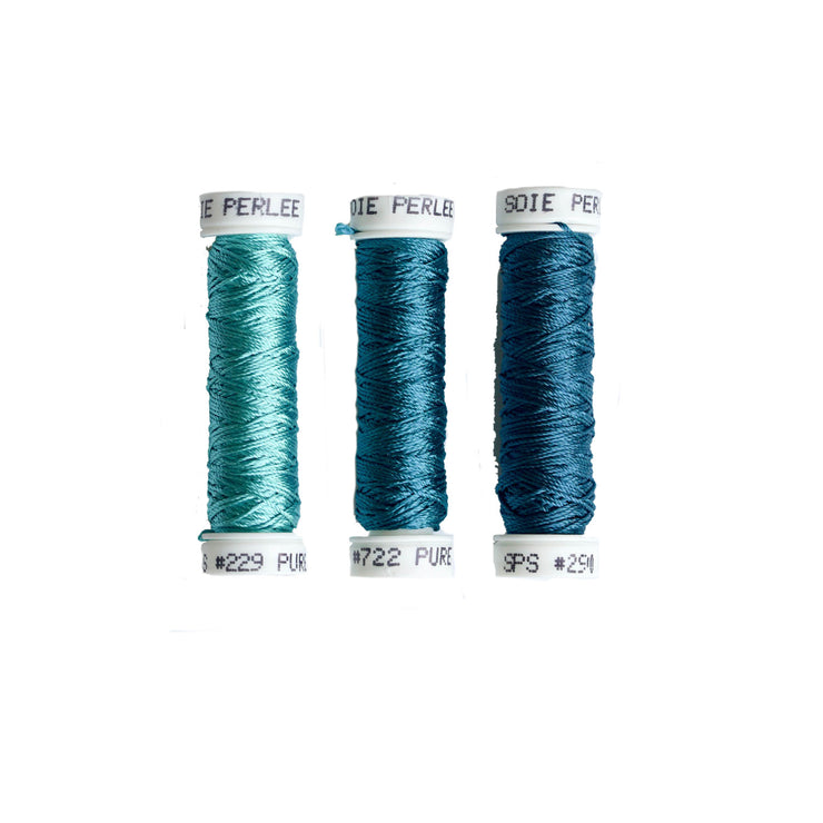 Au Ver à Soie ® Soie Perlee Silk Thread Kit - Aqua