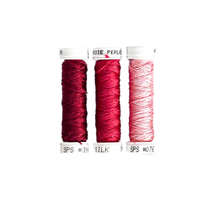 Au Ver à Soie ® Soie Perlee Silk Thread Kit - Berry Pink