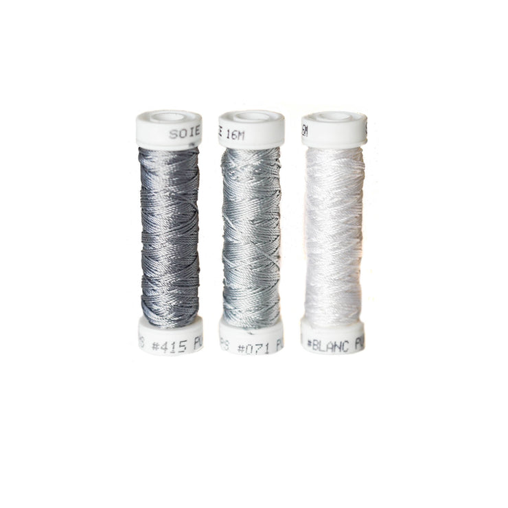 Au Ver à Soie ® Soie Perlee Silk Thread Kit - Cloud Grey