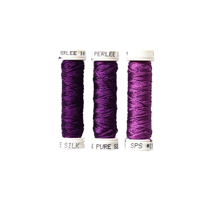 Au Ver à Soie ® Soie Perlee Silk Thread Kit - Iris Purple