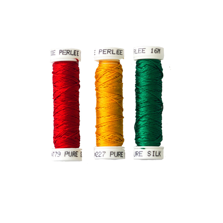 Au Ver à Soie ® Soie Perlee Silk Thread Kit - Stoplight