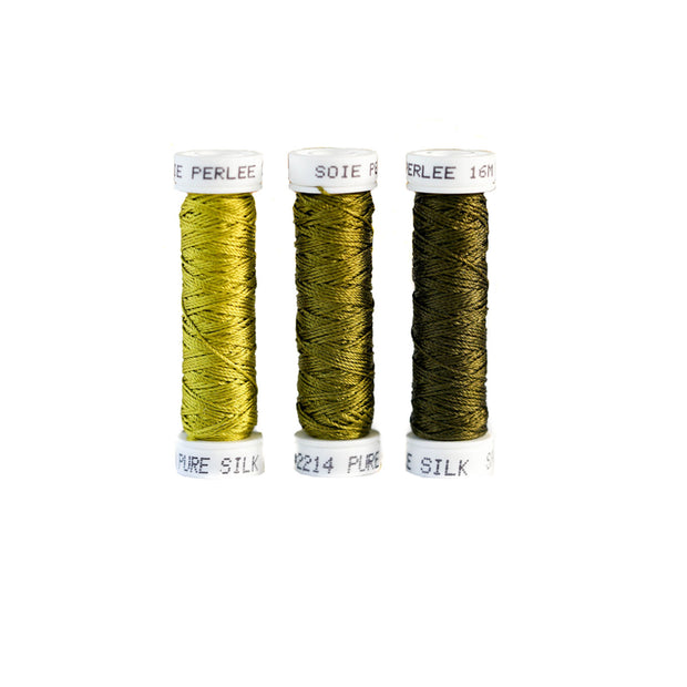 Au Ver à Soie ® Soie Perlee Silk Thread Kit - Olive Green