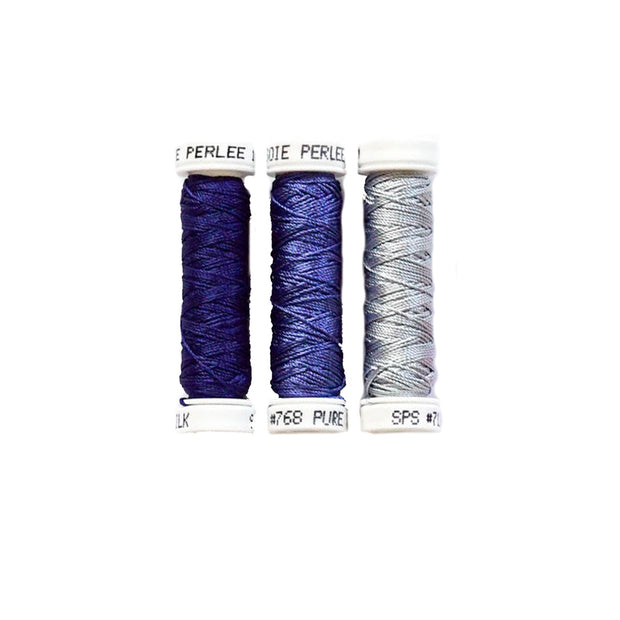Au Ver à Soie ® Soie Perlee Silk Thread Kit - Royal Blue