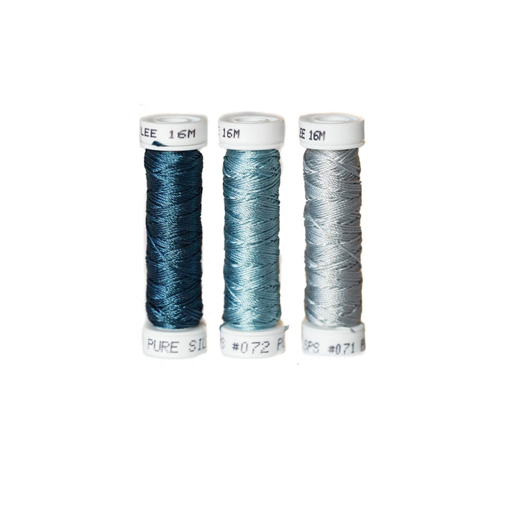 Au Ver à Soie ® Soie Perlee Silk Thread Kit - Steel Blue