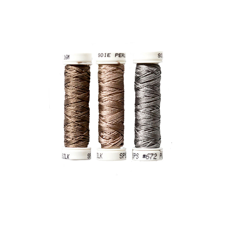 Au Ver à Soie ® Soie Perlee Silk Thread Kit - Stone