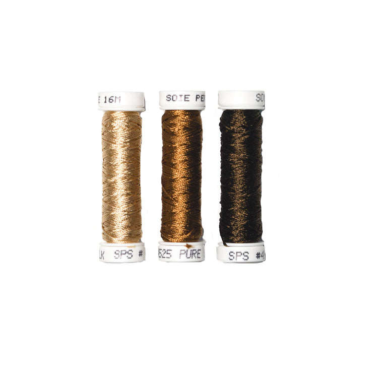 Au Ver à Soie ® Soie Perlee Silk Thread Kit - Walnut Brown