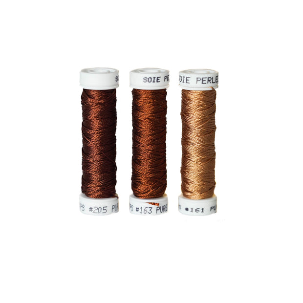 Au Ver à Soie ® Soie Perlee Silk Thread Kit - Russet Brown