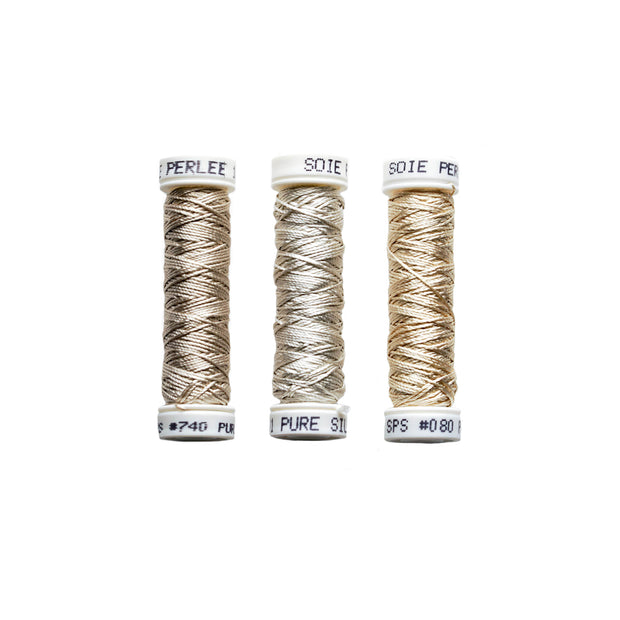 Au Ver à Soie ® Soie Perlee Silk Thread Kit - Warm Neutrals