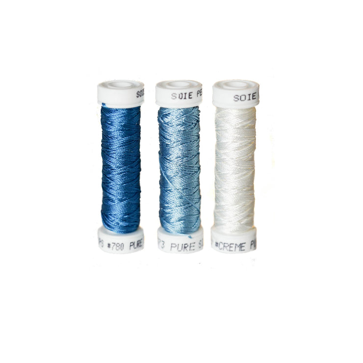 Au Ver à Soie ® Soie Perlee Silk Thread Kit - Sky Blue