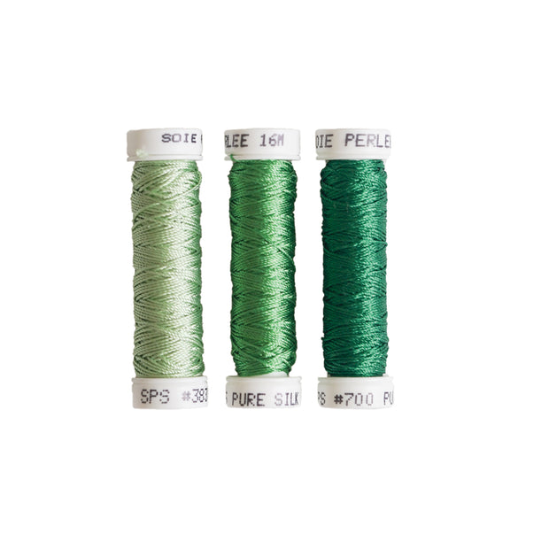 Au Ver à Soie ® Soie Perlee Silk Thread Kit - Fern Green