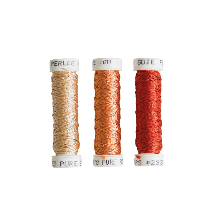 Au Ver à Soie ® Soie Perlee Silk Thread Kit - Fire
