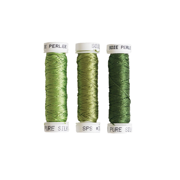 Au Ver à Soie ® Soie Perlee Silk Thread Kit - Leaf Green