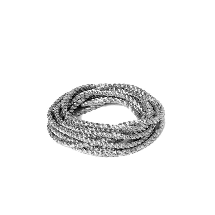 "Metallic Soft Twist Cord  1/8"" - Silver"