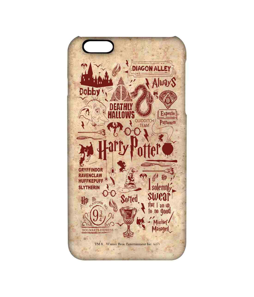 Harry Potter Infographic Red - Pro Phone Cases For Apple iPhone 6S Plus
