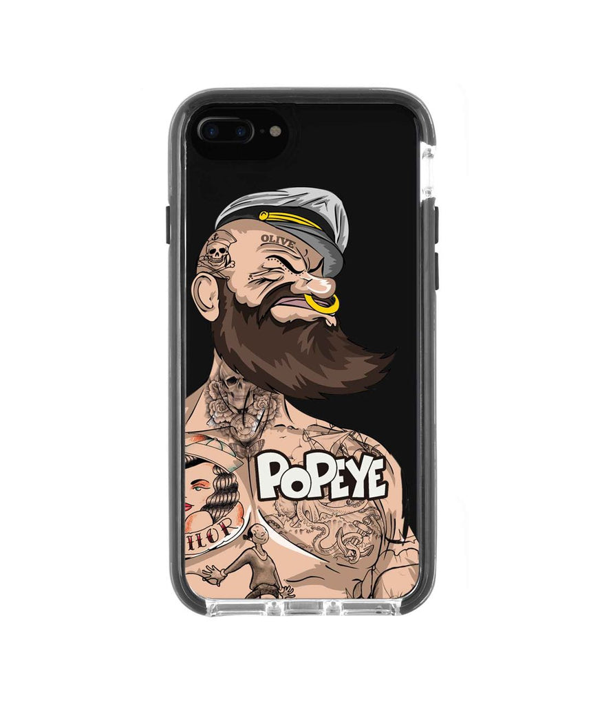 Beard Club Popeye - Extreme Phone Case for iPhone 8 Plus