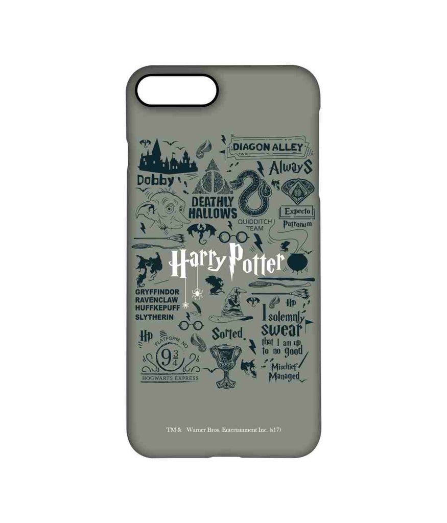 Harry Potter Infographic Grey - Pro Phone Cases For Apple iPhone 8 Plus
