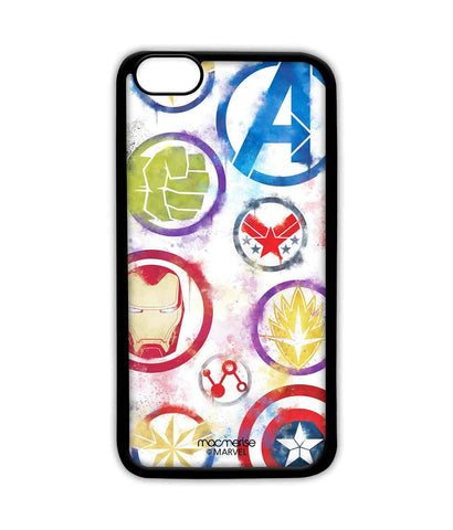 Avengers Icons Graffiti - Sublime Phone Case For iPhone 6