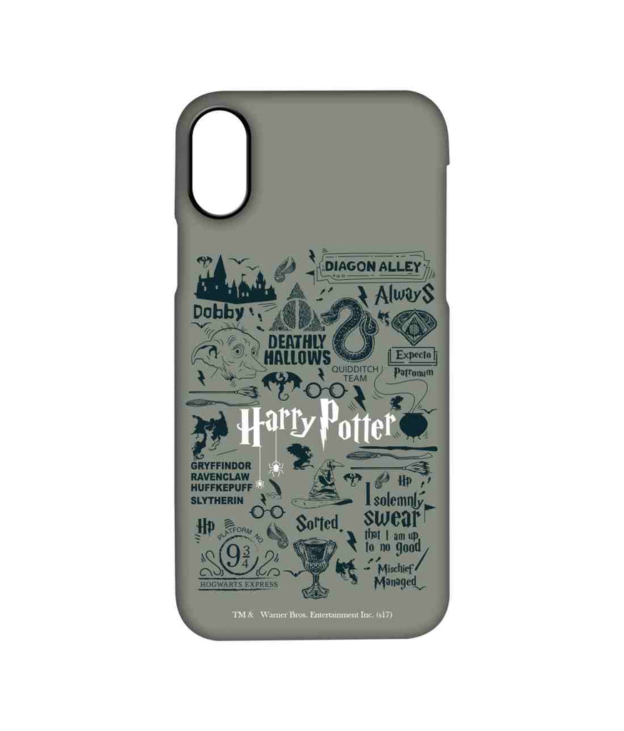 Harry Potter Infographic Grey - Pro Phone Cases For Apple iPhone X